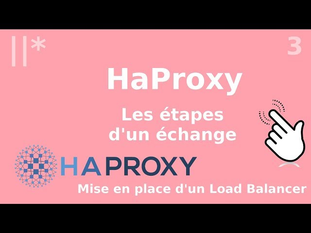 Haproxy - 3. Un échange en étapes | tutos fr