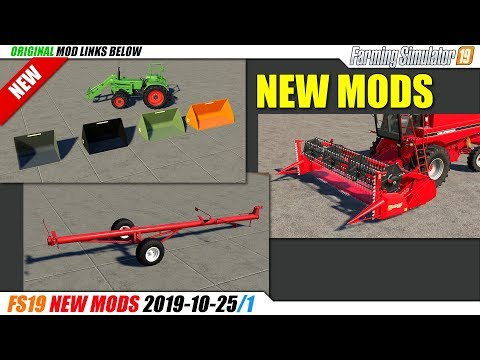 FS19   New Mods (2019-10-25/1) - Review
