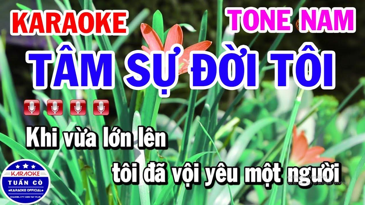 Karaoke Tâm Sự Đời Tôi Tone Nam Nhạc Sống Bolero