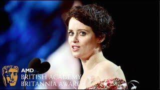 Claire Foy acceptance speech at the Britannia Awards