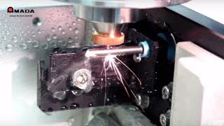 Laser cutting medical tube using a fiber laser and up to four axes ...