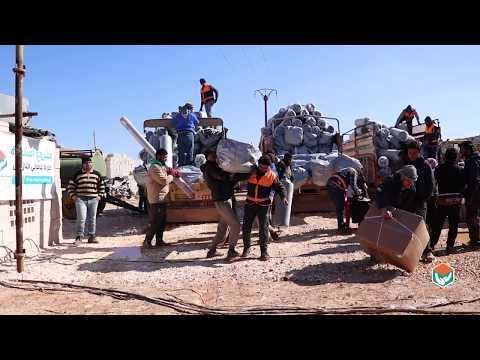 توزيع 500 خيمة و 500 سلة nfi على اهلنا النازحين الجدد