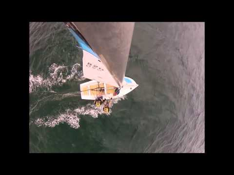 National E at Balmoral Sailing Club (with mast cam) 1st November 2014