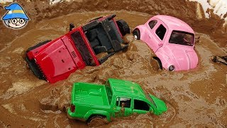The car is in the mud. Car Toy Find Play Sand Play Car Wash Play.