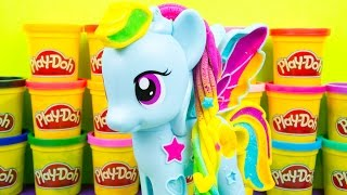 My Little Pony Play-Doh Rainbow Dash Style Salon MLP