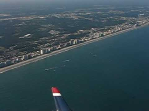 Takeoff - US Airways - Myrtle Beach - Coastline SC - CRJ200