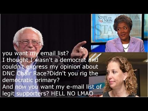Bernie Sanders DENIES DNC E-Mail List: Bernie DESTROYS Corporate DNC - After Cheated Primary? FRAUDS