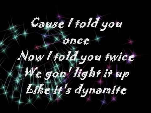 Dynamite - Taio Cruz - ( Onscreen Lyrics )