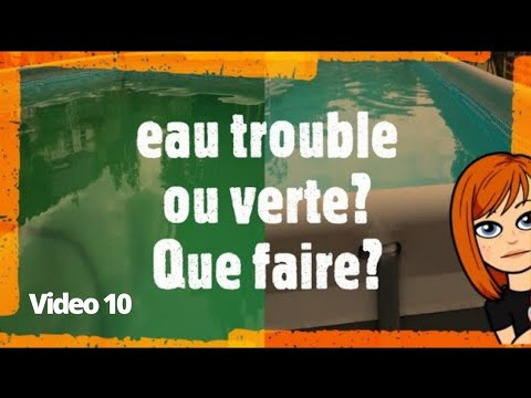 Piscine Intex Verte Ou Trouble Que Faire Youtube