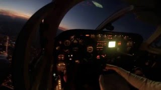 Cessna 340 A flying over the mountains of Montenegro