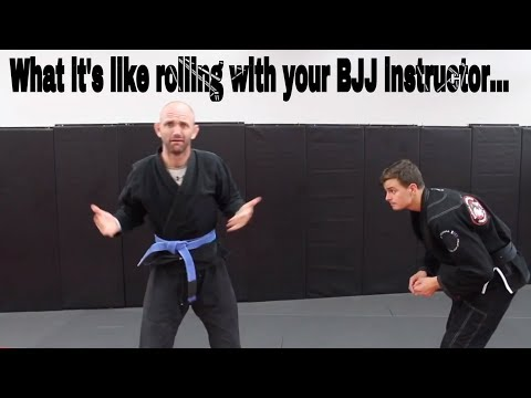 What it's like rolling with your BJJ Instructor...