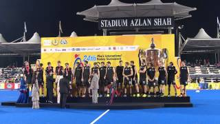 New Zealand award ceremony. Sultan Azlan Shah cup hockey, Ipoh