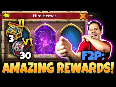 JT's F2P INSANE Rewards Hero Collector Castle Clash