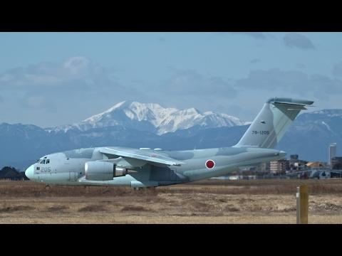 祝!初飛行♪ C-2#1205テスフラテイクオフ 岐阜基地1st.170221
