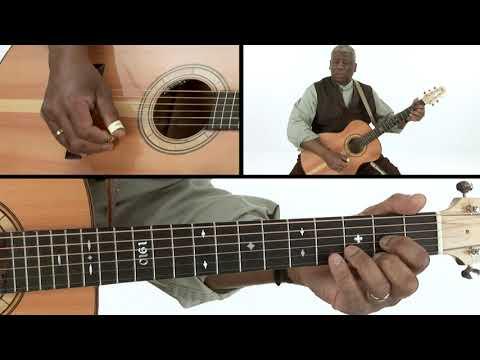 Blues Guitar Lesson - The Piedmont Roll - Rev. Robert Jones