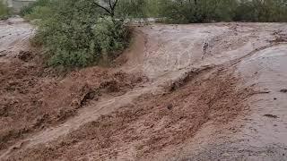 Monster Flash Flood Waterfall Phoenix Arizona 07-23-21