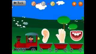 BODY PARTS IN FRENCH * Lesson 4 *  Kids Learn Vocabulary App