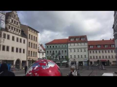 Town square Wittenberg Germany