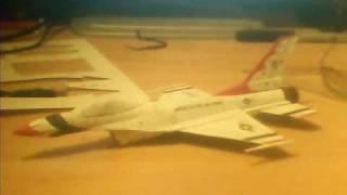 PAPERCRAFT F-16 THUNDERBIRDS  OJIMAK BY LUCHOBASS