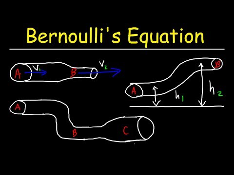 Bernoulli's Equation Example Problems, Fluid Mechanics - Physics