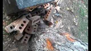 Wax Steel 51mm shot shell vs desk.. airgun destruction!