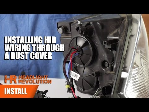 How to install HID Wiring Through a Headlight Dust Cover ... Hid Wiring on