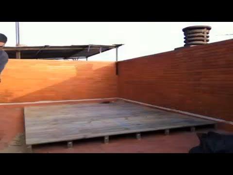 Instalacion tarima de pino tratado para exterior en el - Madera machihembrada exterior ...