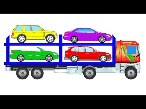 АВТОВОЗ везёт транспорт. Изучаем разные машины - Кабриолет,  Внедорожник, и Гоночный автомобиль