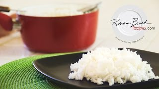 Basic White Rice:  How To Cook Perfect White Rice -easy