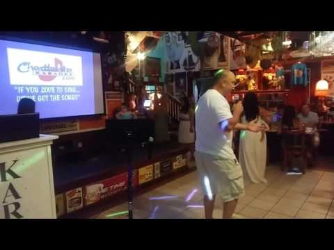 Chris singing lynryd skynrd Karaoke