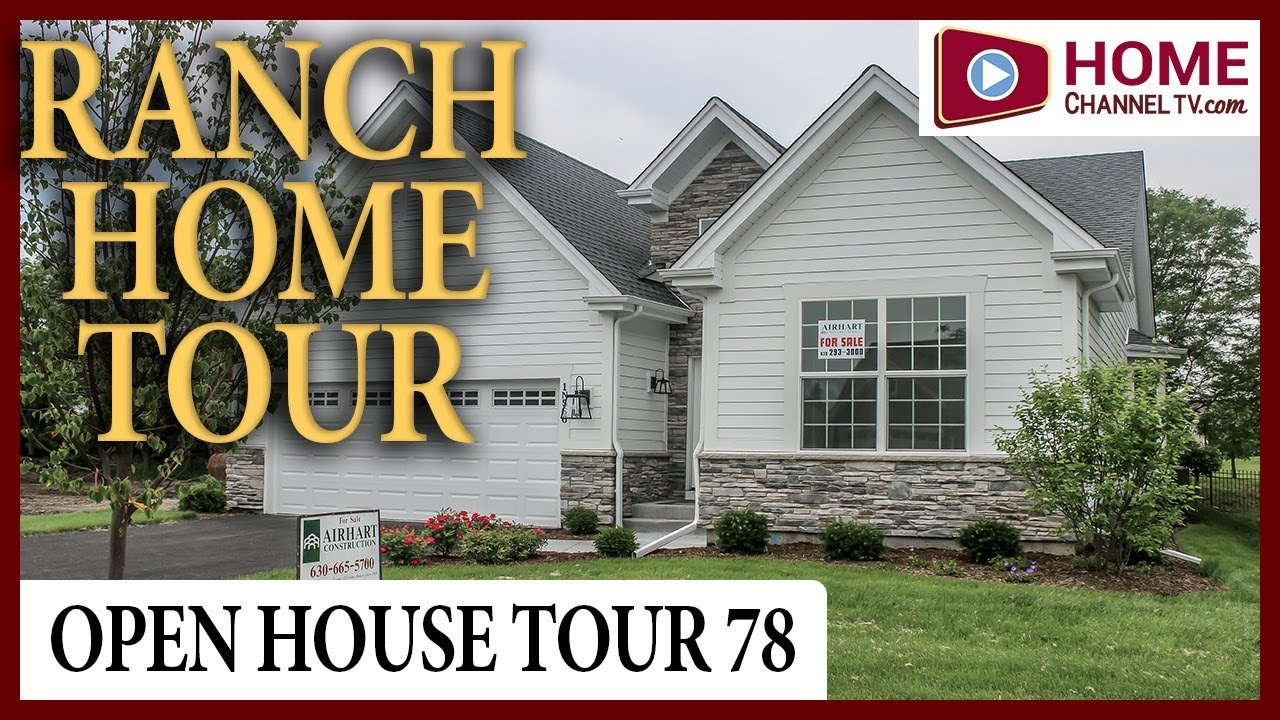 Open House Tour 78 - Custom Ranch Home in Winfield IL by Airhart Construction