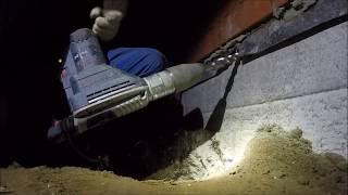видео Как можно пробить дыру в фундаменте и бетонной стене?