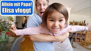 Mit Papa alleine zu Hause 😍 Elisa vloggt! Kuchen backen & Schokolade essen! Papa VLOG | Mamiseelen