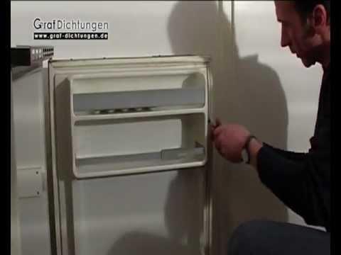 Siemens Kühlschrank Scharnier Wechseln : Kühlschrankdichtung mit schraubprofil austauschen youtube