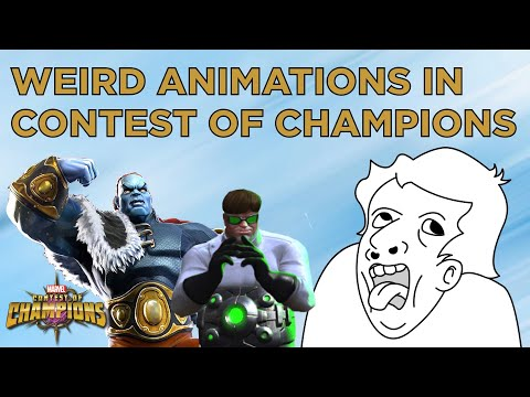 The weirdest in-game animations in Marvel Contest of Champions - YouTube