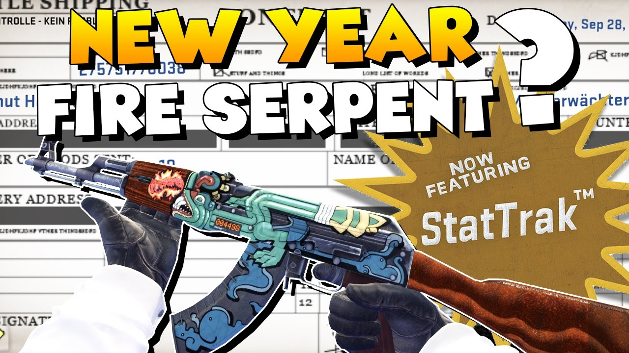 Cs Go New Year S Stattrak Ak 47 Fire Serpent Factory New Trade Up Youtube