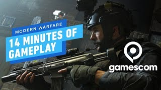 14 Minutes of Call of Duty: Modern Warfare Gunfight PC Gameplay - Gamescom 2019