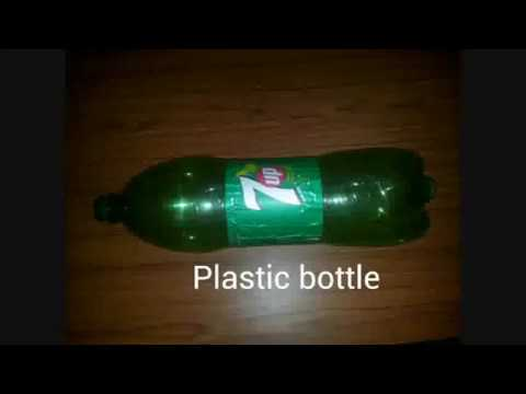 Useful product with plastic bottle(product from waste material)