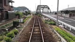 松浦鉄道 小浦→佐々 後面展望