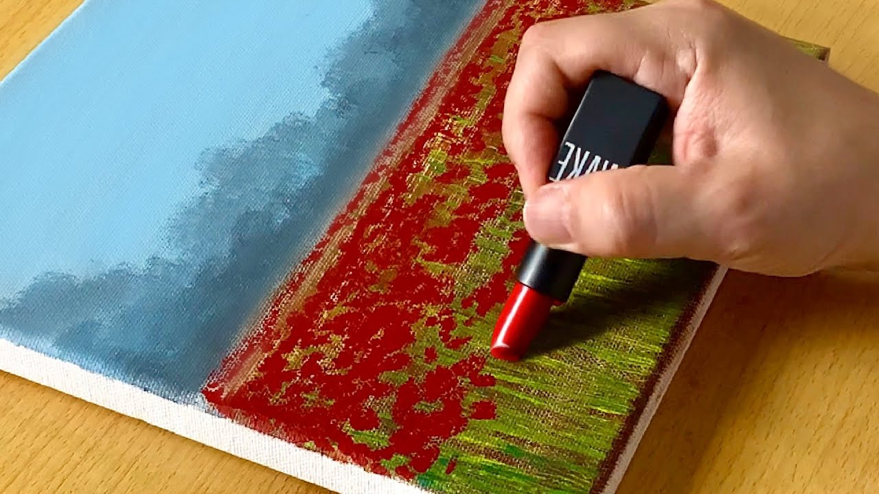 Morning Flower Garden Painting / Acrylic Painting for Beginners / STEP by STEP #266