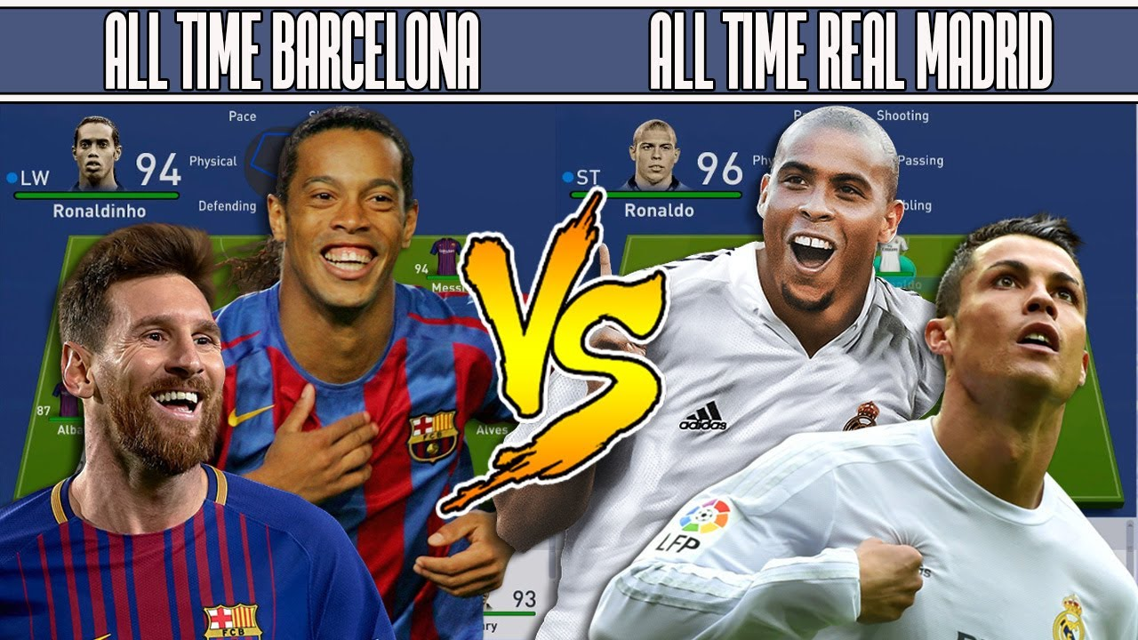 f445e107c33 BARCELONA S ALL TIME XI VS REAL MADRID S ALL TIME XI - FIFA 19 EXPERIMENT