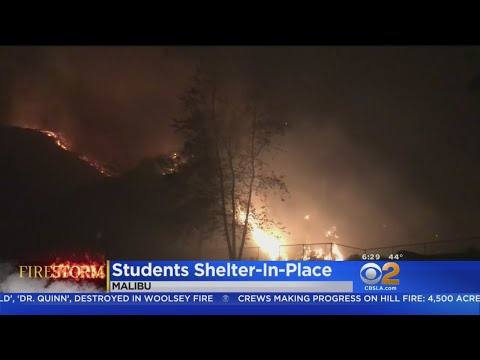 'You're Safe Here': Pepperdine University Sheltering In Place Despite Evacuations, Fire Raging Near