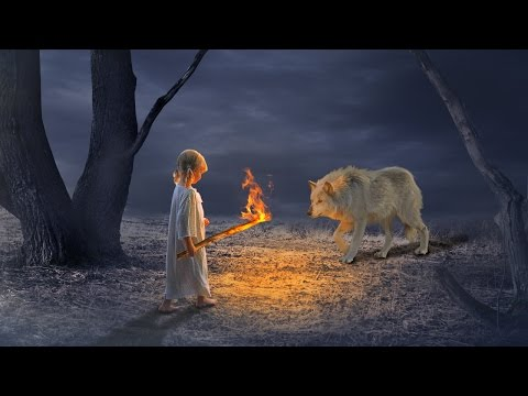 Girl with fire torch photo manipulation | photoshop tutorial