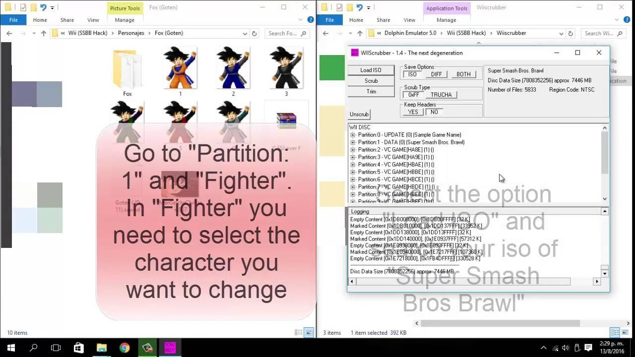 Hack Super Smash Bros Brawl: Wii Scrubber (English version)
