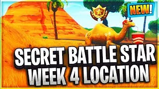 Week 4 secret battle star location fortnite battle royale