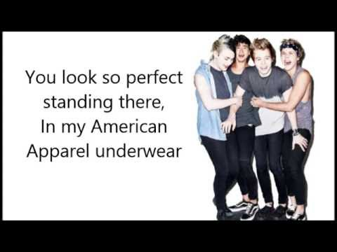 She Looks So Perfect Lyric Video Youtube