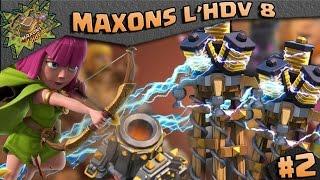 CLASH OF CLANS ~MAXONS L'HDV 8 #2 TESLAAAAAAAAAAAAA