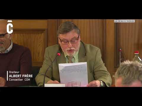 Albert FRERE. Conseil communal Charleroi 26/02/18 Intervention pour la motion sur la banque  Belfius