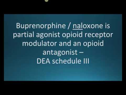 How to pronounce buprenorphine and naloxone (Suboxone) (Memorizing Pharmacology Flashcard)