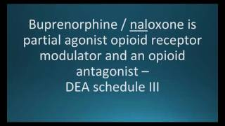How to pronounce buprenorphine and naloxone (Suboxone) (Memorizing Pharmacology Flashcard)